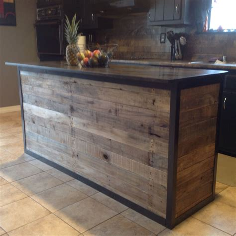 how to build a kitchen island bar diy kitchen island made from pallet wood house ideas
