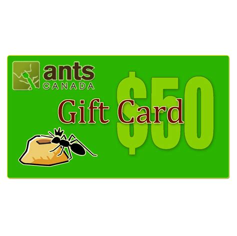 What Are E Gift Cards - e gift card 50 00 antscanada