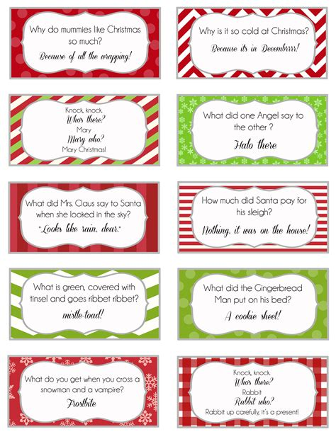Printable Christmas Joke Cards | elf on the shelf printable joke cards