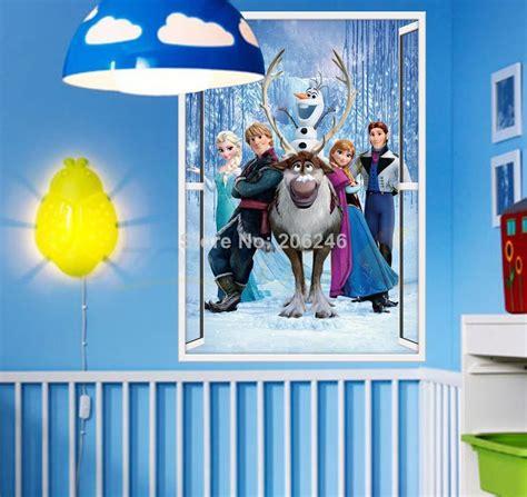frozen home decor frozen home decor 3d frozen wall frozen movie wall stickers window wall cartton diy vinyl