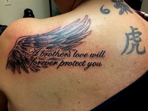 rip brother tattoos a will forever protect you rip my i