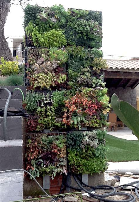 Vertical Garden Irrigation System Vertical Succulent Garden With Integrated Outdoor Shower
