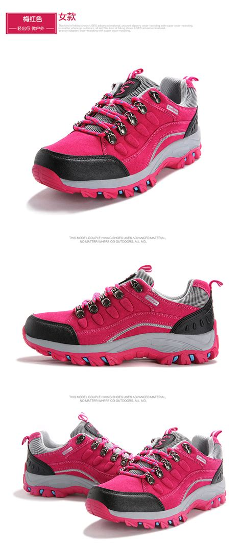 hiking shoes ankle rubber sport shoes non slip waterproof