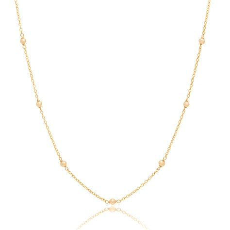 Chain Of Pearl 1 2 delicate gold and pearl chain necklace 24in necklace 14k
