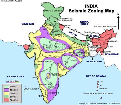 earthquake zone 2 india map earthquake zoning
