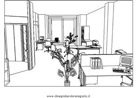 disegno arredamento disegno ufficio prospettiva da colorare