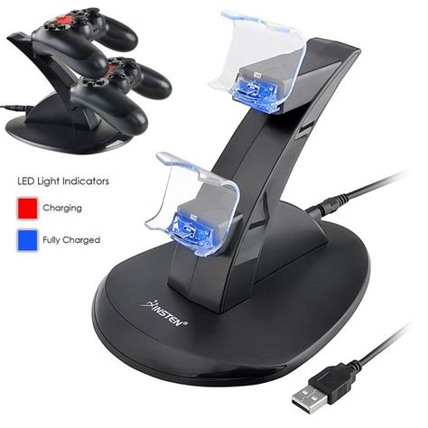 Oivo Gamepad Charging Dock Stand For Ps4 Controller dual usb charging charger station stand for playstation 4 ps4 controller ebay