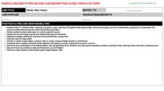 Welder Helper Description by Pipe Fitter Helper Descriptions