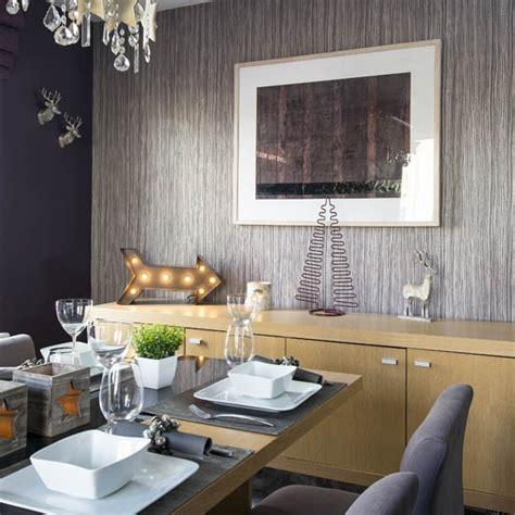 wallpaper for feature wall in dining room dining room feature wall take a tour of this festive