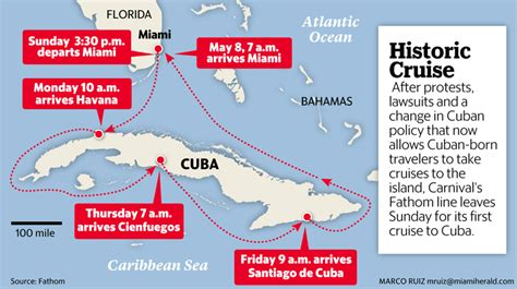 miami to cuba by boat how long cruise ship from miami arrives in havana for historic trip