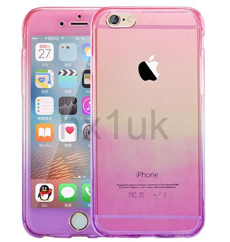 shockproof 360 176 silicone protective clear cover for apple iphone 7 6s plus ebay