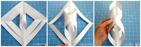 How To Make A Snowflake With Paper And Scissors - 3d paper snowflake tutorial archives events to celebrate