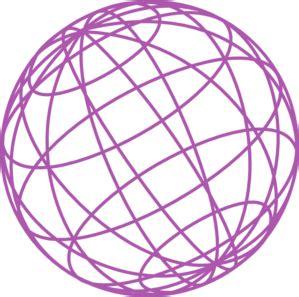 wire globe purple clip at clker vector clip