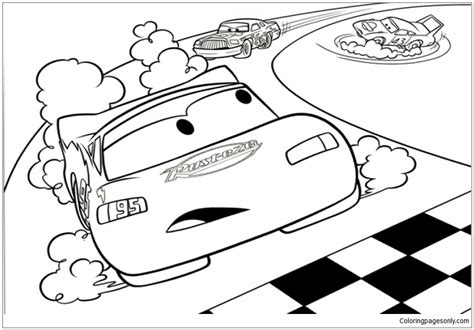 full page lightning mcqueen coloring pages lightning mcqueen 1 coloring page free coloring pages online