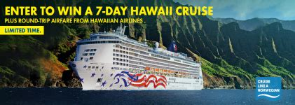 Cruise Line Sweepstakes - norwegian s uncover hawaii sweepstakes win a cruise sweepstakes in seattle