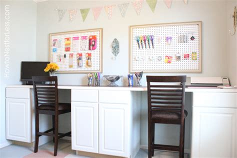 craft room desk craftaholics anonymous 174 craft room tour with how to nest for less