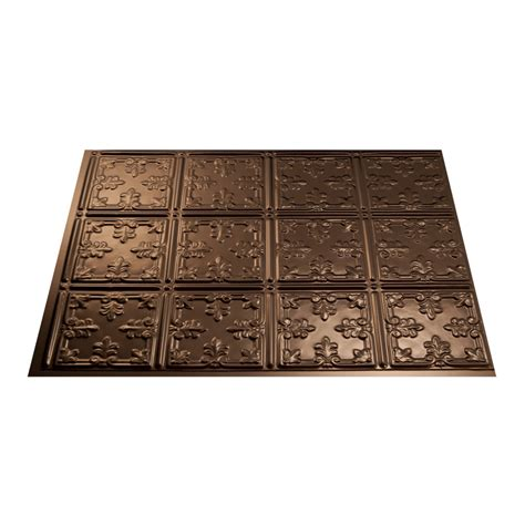 fasade kitchen backsplash panels shop fasade 18 5 in x 24 5 in oil rubbed bronze