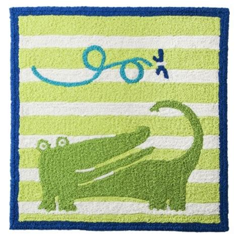 boy nursery rug zutano 5721 new alligator green baby boys square hook nursery rug 30x30 bhfo ebay
