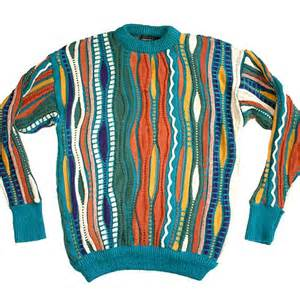 textured multi colored cosby style ugly sweater mens size medium m the ugly sweater shop