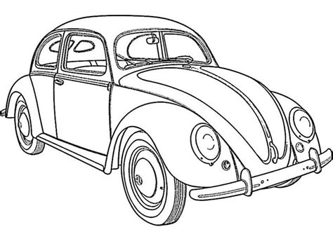 Design Aufkleber Für Auto by Colorear Vw Escarabajo 1 Malvorlagen F 252 R Senioren