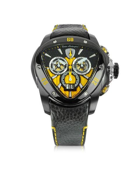Lamborghini Watches For Tonino Lamborghini Black Stainless Steel Spyder