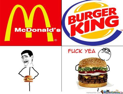 Burger King Meme - mc donalds vs burger king by grega rubin meme center