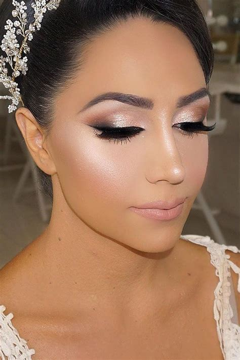 36 Bright Wedding Makeup Ideas For Brunettes   Wedding