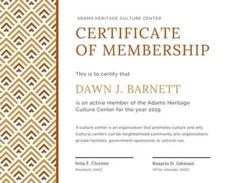 canva membership geometric pattern membership certificate templates by canva