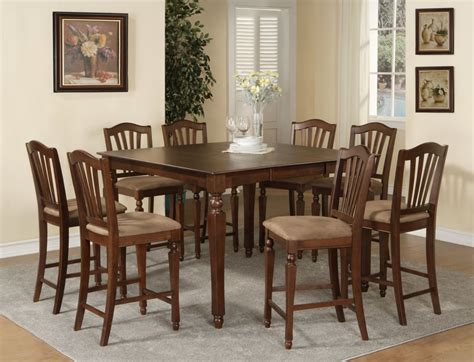 9pc chelsea square counter height dining room table set 8