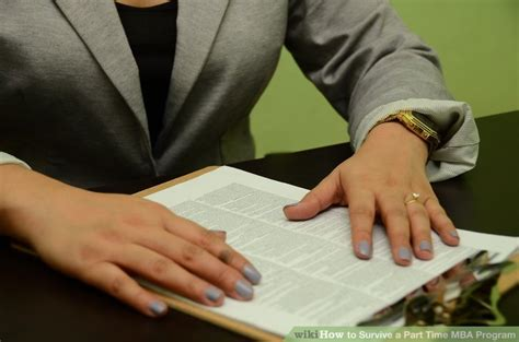 Mba Wikihow by How To Survive A Part Time Mba Program 11 Steps With