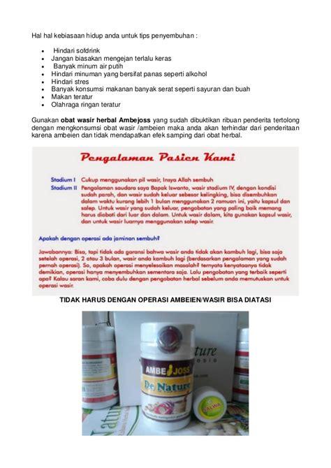 Obat Herbal Wasir tuntaskan wasir dengan obat herbal wasir tanpa operasi