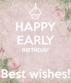 happy early birthday best wishes poster ins keep calm
