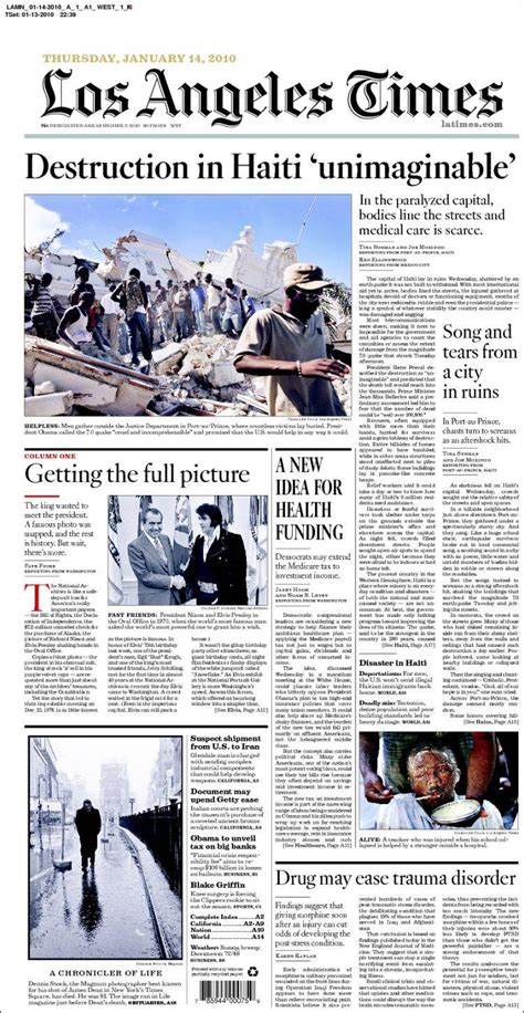 la times california section image gallery los angeles times newspaper