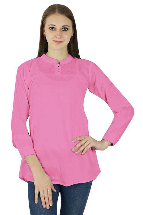 light pink top women s other women s clothing phagun women cotton top long