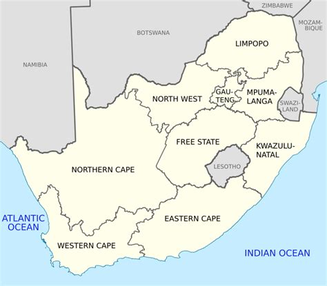 9 provinces south africa map map of south africa photos4travel travel guide