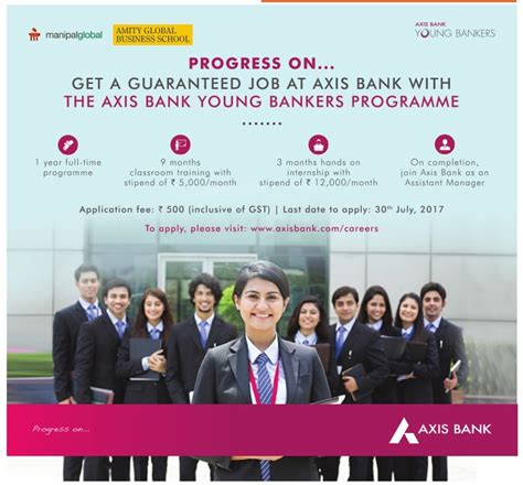Mba Recruiting Programs Banks by Manipal Global Amity Global Business School Axis Bank