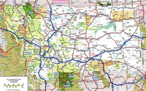 map of montana montana state road