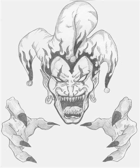 evil jester tattoo designs clown evil clowns and scary clowns on