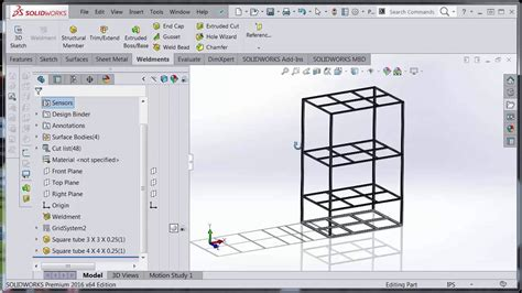 grid pattern solidworks solidworks 3d grid shelf sweep youtube