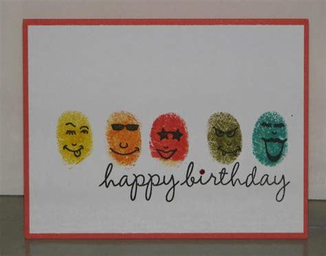 cards for stempel spass fingerprint birthday card my cards