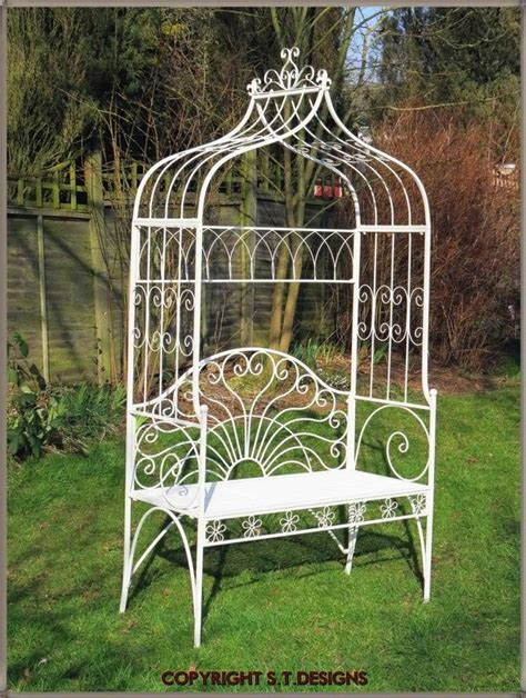 garden bench with arch beautiful garden bench seat with lovers arch antique