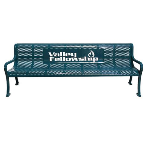 personalized bench personalized perforated bench terracast