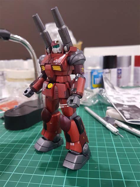 Hguc Rx 77 2 Guncannon hguc revive rx 77 2 guncannon painted build gunpla
