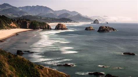 cannon beach from ecola state park dave wilson photography