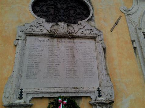parrocchia di volta mantovana lapidi ai caduti di volta mantovano pietre della memoria