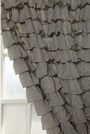 waterfall ruffle curtain urbanoutfitters gray waterfall ruffle drapes