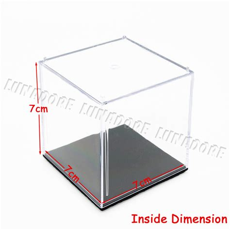 Acrylic 1 Cm aliexpress buy odoria acrylic display box cube 7x7x7 cm perspex dustproof showcase