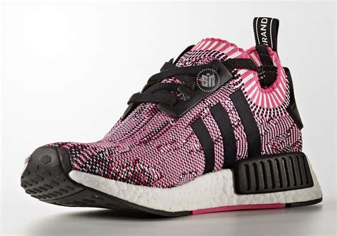 Adidas Nmd R1 Pink Premium cheap s adidas nmd r1 primeknit quot shock pink quot running shoes shock pink black white bb2363
