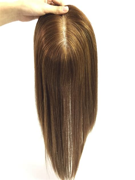 hair toppers for short hair custom light brown human hair topper extensions for women