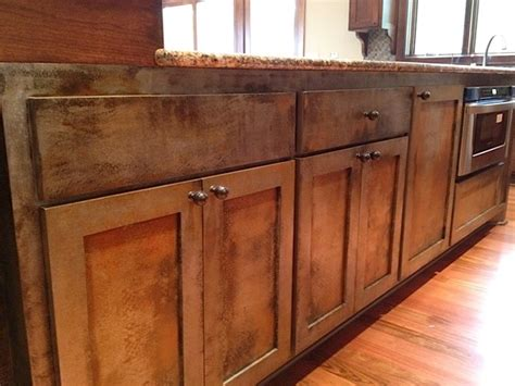 painted metal kitchen cabinets quot rusty metal trunk quot kitchen island eclectic kitchen